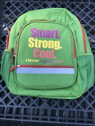 Backpack School Kids Green Smart Strong Cool New $8.99
