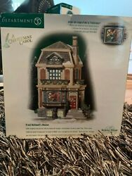 Department Dept 56 A Christmas Carol Fred Holiwell's House 58492 Dickens Village