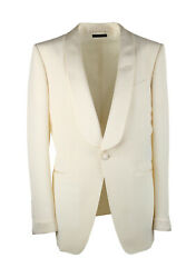 New Tom Ford Oand039connor Ivory Sport Coat Tuxedo Dinner Jacket Size 52 It / 42r ...