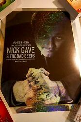 Rare Signed Nick Cave And The Bad Seeds 2014 Holo Poster By Brian Ewing 3/5