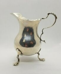 Cream Pitcher Sterling Silver With English Hallmarks
