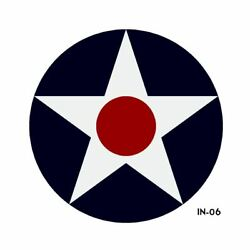 Us Army Air Force National Star And Bars Insignia Military Aircraft Roundel - 2