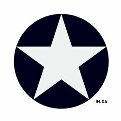 Us Army Air Force National Star In Circle Insignia Military Aircraft Roundel -