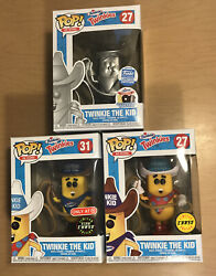 Funko Pop Ad Icons Twinkie The Kid Platinum Chase Gitd Limited Edition Lot Of 3