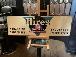 1947 Hires Root Beer 35 Embossed Tin Advertising Sign Watch Video