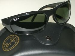 RAY BAN RB4033 601 PS SHOT RECTANGLE G15 UV CRYSTAL LENS BLACK WRAPS SUNGLASSES $319.99