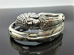 Native American Indian Bracelet 925 Sterling Silver Tribal Chief Grand Cherokee