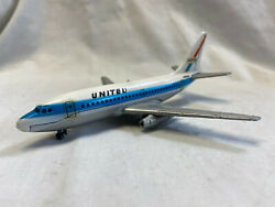 Vtg United Airlines Boeing Diecast Toy Plane Passanger Plane Made In Japan