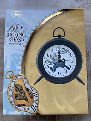 Disney Parks Store Alice Through The Looking Glass White Rabbit Desk Clock Nwt