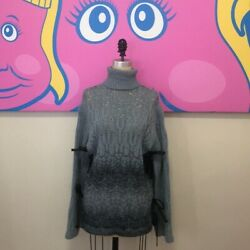 Missoni Cashmere Mohair Sweater Cowl Neck Gray Size Small Nwt