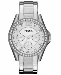 Fossil Women#x27;s Riley Stainless Steel Multi function Quartz Watch ES3202 $84.50