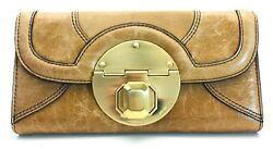 MIMCO STAND OFF LARGE LEATHER WALLET IN CHAMOIS BNWT RRP$229