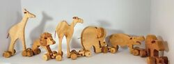 Hand Crafted From Durable Poplar Wood Animal Train For All Occasions.