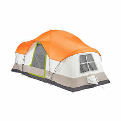Tahoe Gear Olympia 10 Person 3 Season Camping Tent Orange And Green Open Box