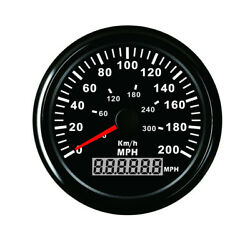 3-3/8 Red Led Gps Speedometer Odometer W/ Sensor For Motorcycle Car Truck Boat