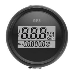 2'' Gps Speedometer 0-999 Mph Kmh Knots For Car Motorcycle Marine Boat Universal