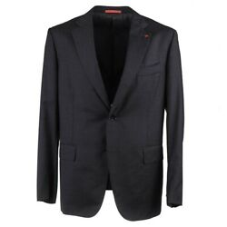 Isaia Modern-fit Solid Charcoal Gray Wool Suit 44r Eu 54 Base Gregory