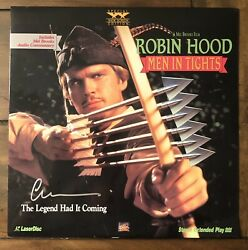 Cary Elwes Signed Robin Hood Men In Tights Laserdisc Rare Beckett Coa And Proof