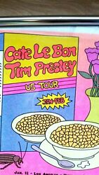 Cate Le Bon Hand Signed Silver Signature Tour Poster, Presley Cereal Box