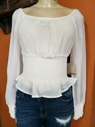 CUTE WHITE DRESSY BLOUSE LONG SLEEVE  BRAND NEW $23.99