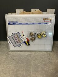 Pokemon Store Display Sign Promo Promotional TCG Card Event calendar SEALED NIB