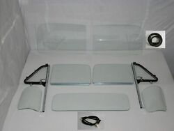 Glass 1951-53 Chevy Pickup Windshield Vent W/post Door Assmb 3pc Back Seal Clear