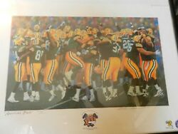 America's Pack, Green Bay Packers Super Bowl 31 Limited Edition Print By Andy Go