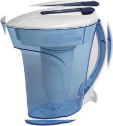 ZeroWater® 10 Cup Ready-Pour® Filtered Pour-Through Water Pitcher Blue