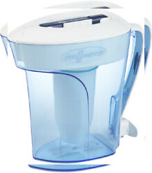 ZeroWater® 10-Cup Filtered Water Pitcher with Quality Meter Blue