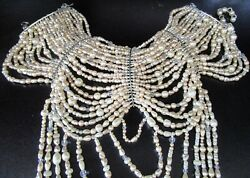 Erickson Beamon Nwt 1978 Runway Drama Queen Draped Pearl And Crystal Necklace