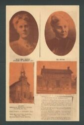 1949 Ppc Mothers Day Founder Anna M Jarvis 1864-1948 Her Bio W/data Mint
