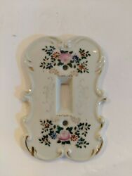 Vintage Porcelian Double And Single Switch Wall Plates