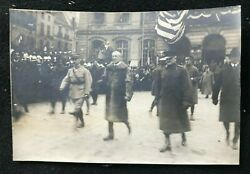 Antique Photo From Wwi Peace Conference - Woodrow Wilson - 1919