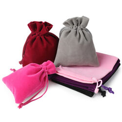 Velvet Bags Jewelry Packing Wedding Party Favors Gifts Drawstring Candy Pouches $7.58