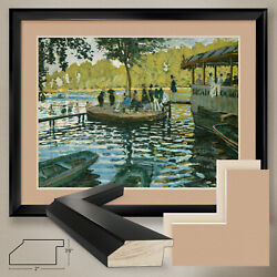 40wx32h La Grenouillere By Claude Monet - Double Matte Glass And Frame