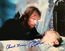 Chuck Norris James Hong Missing In Action Signed 11x14 Jsa Witnessed