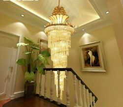 Gold Lights Crystal Chandelier Exquisite Luxury Fixture For Hotel HallStaircase