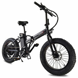 20 500w Foldable Electric Mountain Bicycle 2 Working Modes Removable Battery