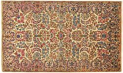 Antique Traditional Floral Oriental Rug, In Small Size, With Free Shipping