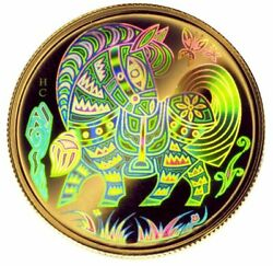 2002 Canada 150 Gold Hologram Lunar Year Of The Horse Proof - Ogp