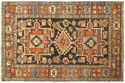 Antique Decorative Geometric Oriental Rug In Small Size With Free Shipping