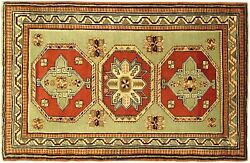 Antique Caucasian Oriental Rug, In Small Size, With Free Shipping