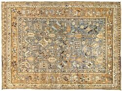 Vintage Traditional Oriental Rug, In Small Square Size, With Free Shipping