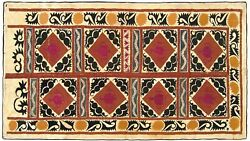 Vintage Decorative Suzani Textile, Repeat Design, Wall Hanging And Floor Covering