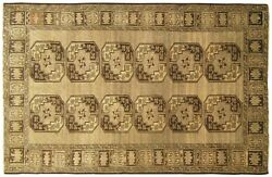 Vintage Afghan Decorative Oriental Carpet, In Small Size, With Geometric Design