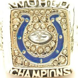 2006 Indianapolis Colts Davis Nfl Super Bowl Silver Plated Championship Ring