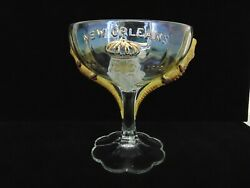 Antique Pittsburgh Shriners April 1910 New Orleans Convention Glass Alligators