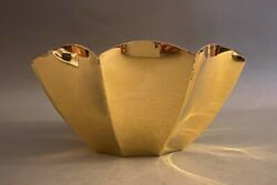 And Co. Sterling Silver W Vermeil Modernist Fluted Bowl 25193 - 26.9 Ozt