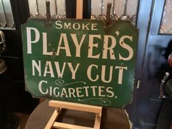 24 Double-sided Players Cigarettes Porcelain Advertising Sign Watch Video