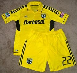 Authentic Drew Beckie Columbus Crew 22 Adidas Mls Team Issue Jersey W/ Shorts